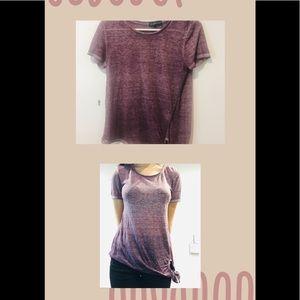 Derek Heart Tops - Purple t-shirt